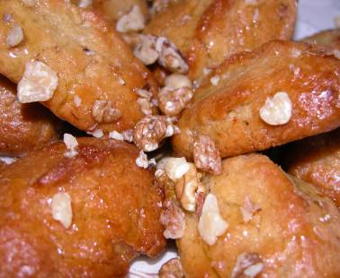 Melomakarona (Christmas Honey cookies)