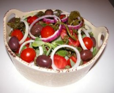 Tomato and Glistirida(Purslane) Salad- Recipe