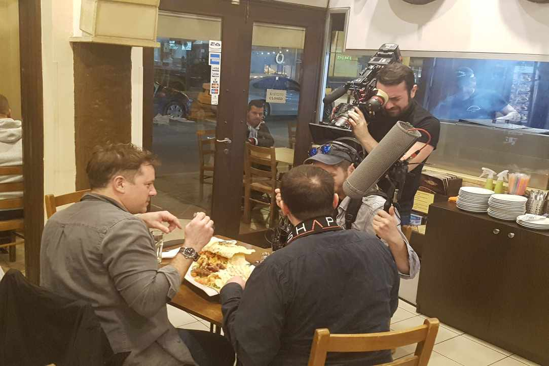 Takis Kebab House in Larnaka was chosen to be filmed...