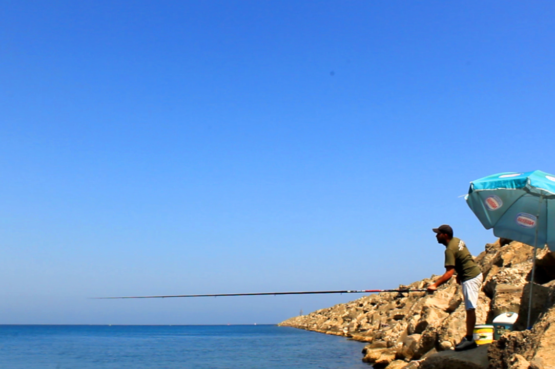 Simple fishing in Cyprus