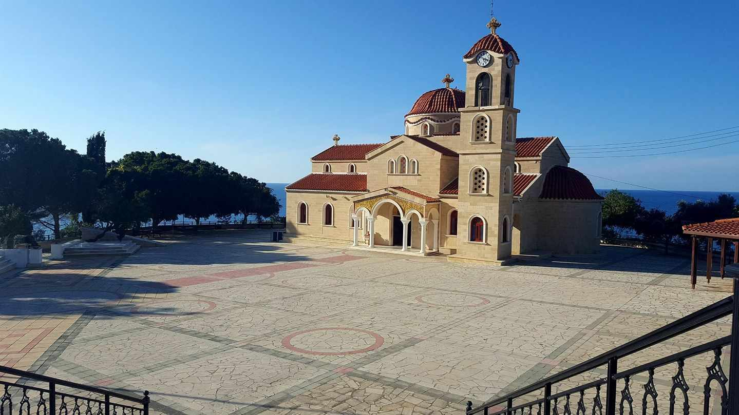 "The ""Church of Saint Raphael"" is located in the village of Pachyammos  (Nicosia)."