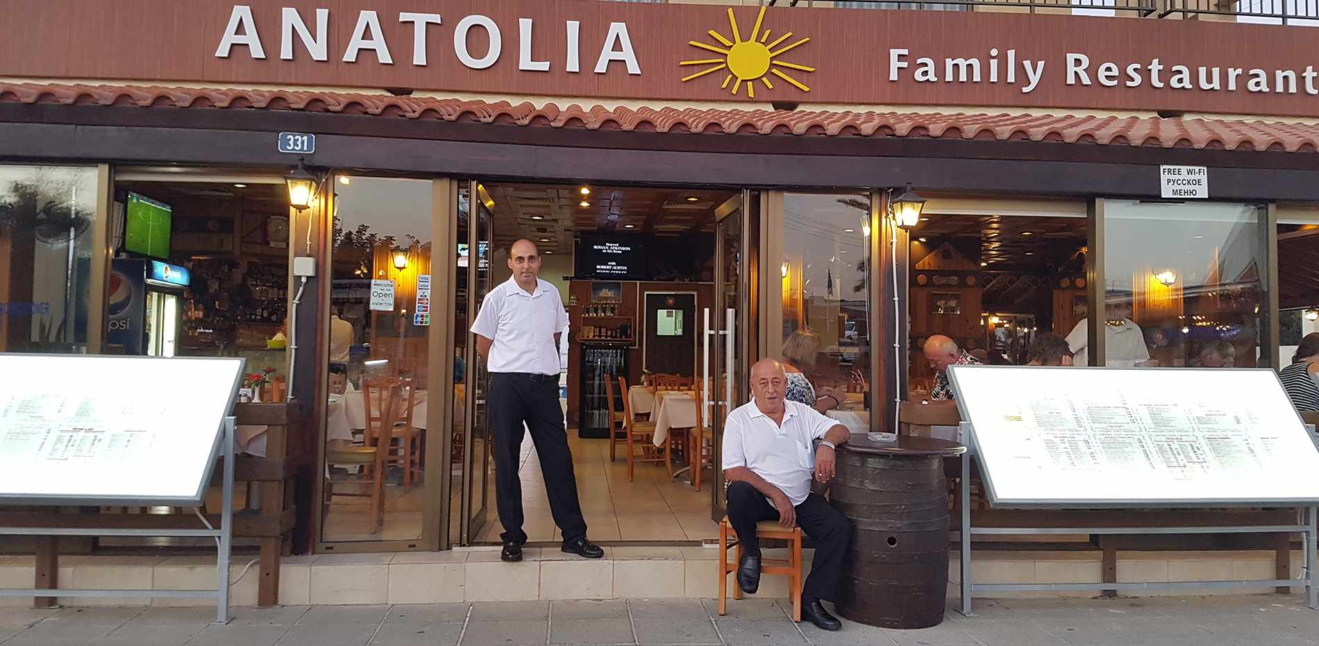 Interview with the owner of Anatolia Restaurant in Protaras