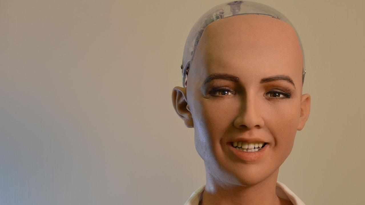 The world famous Sophia the robot in Cyprus...