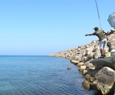 Simple fishing in Cyprus