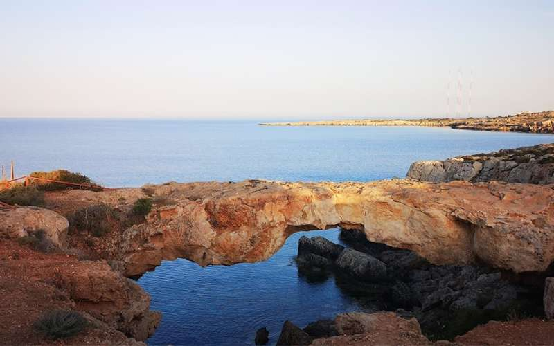 Rock Bridge At Cape Greco